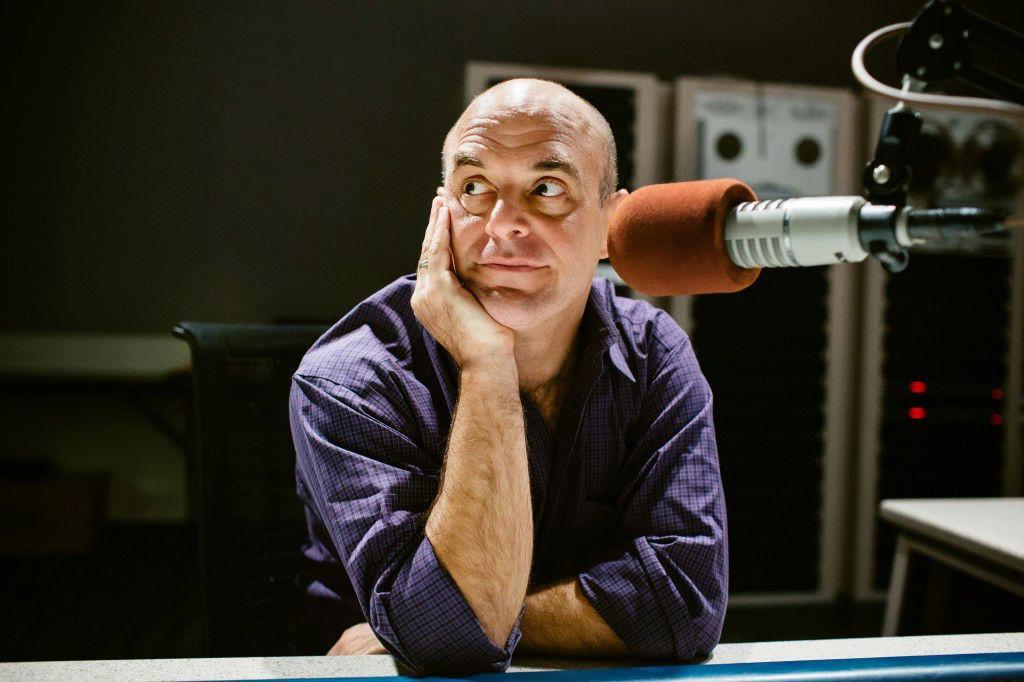 Portrait of Peter Sagal, host of the Wait Wait... Don't Tell Me! quiz program.