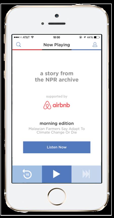 NPR One AirBnB Custom Channel