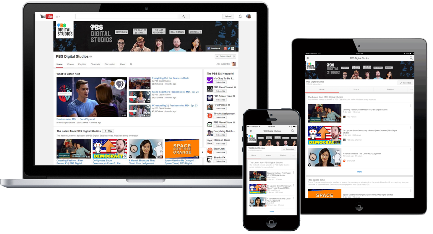 Learn more about ways to sponsor PBS's branded YouTube channel, PBS Digital Studios