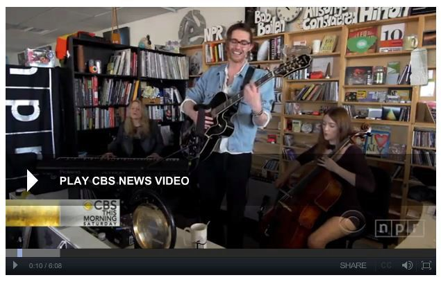 tiny desk concert cbs news - frame