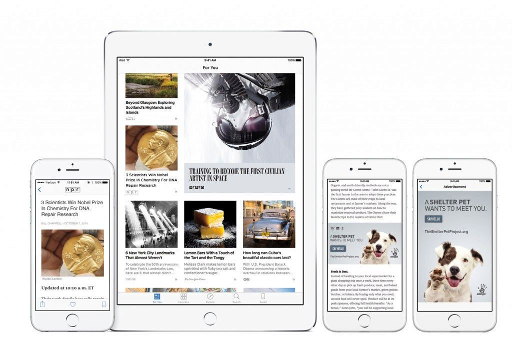 NPR is a launch partner of the Apple News app on iOS devices