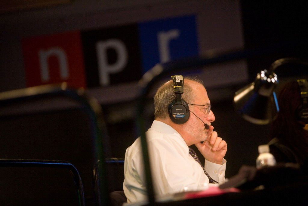Robert Siegel in booth.