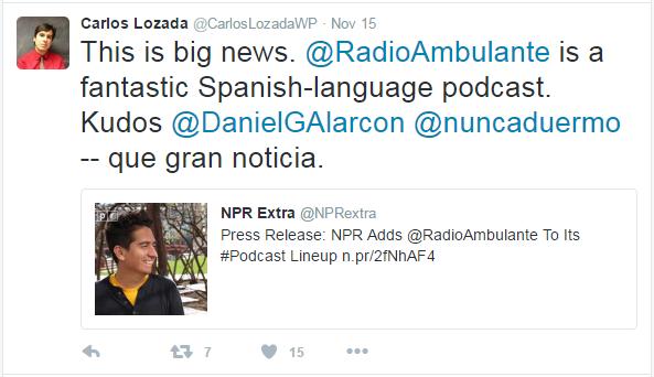 New NPR Podcasts Radio Ambulante